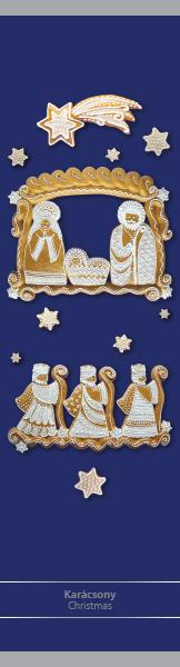 Karácsony kék – papír könyvjelző