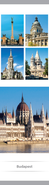 Budapest – papír könyvjelző