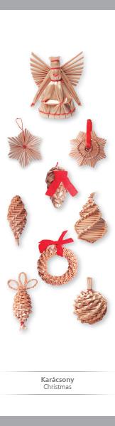 Karácsony – papír könyvjelző