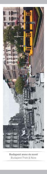 Budapest Anno és Most – papír könyvjelző